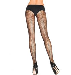 9015 PANTIMEDIAS LEG AVENUE FISHNET W/BACK SEAM ONE SIZE BLACK